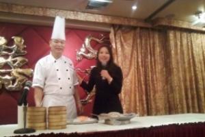 Ching He Huang and Dimsum Chef