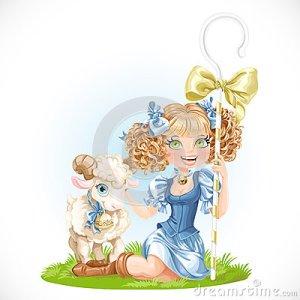 cute-shepherdess-lamb-sit-green-grass-isolated-white-background-46094406 (1)