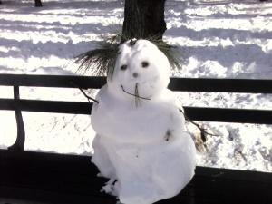 moustached snowman